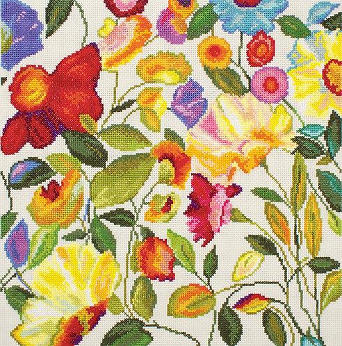 """RTO M444 Cross-stitch kit """"Flower kaleidoscope"""""""