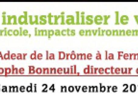 Conférence de Christophe Bonneuil Samedi 24 Novembre