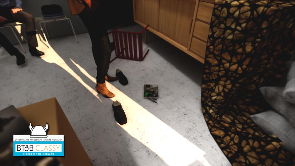 Vue de détail : une paire de chaussure