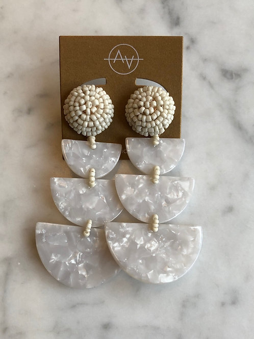 Miro Acrylic Earrings (Ivory)