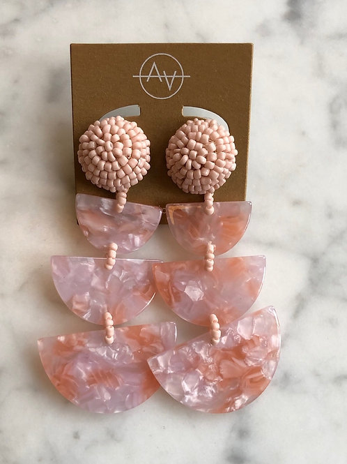 Miro Acrylic Earrings (Blush)