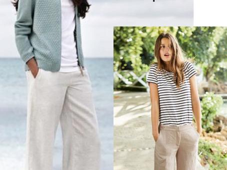 Les inspirations capsules estivales pour le pantalon Tess et le t-shirt Rebecca