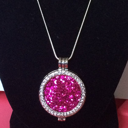 Pink Plate Necklace