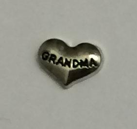 Grandma Silver Heart