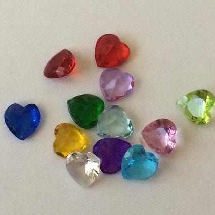 5mm Birthstone Hearts