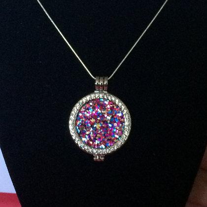 Multi-Color Plate Necklace