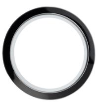 30mm Round Black