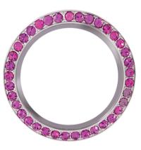 30mm Round Pink Rhinestone