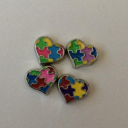 Autisim Heart Puzzle Charm