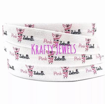 Pink Zebra Knot Hair Ties