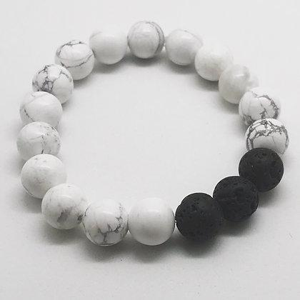White Marble Aromatherapy Bracelet