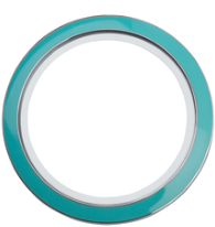 30mm Round Teal