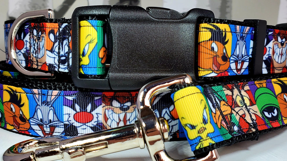 """1"""" Looney Tunes Dog Collar, Martingale, Harness, or Leash"""