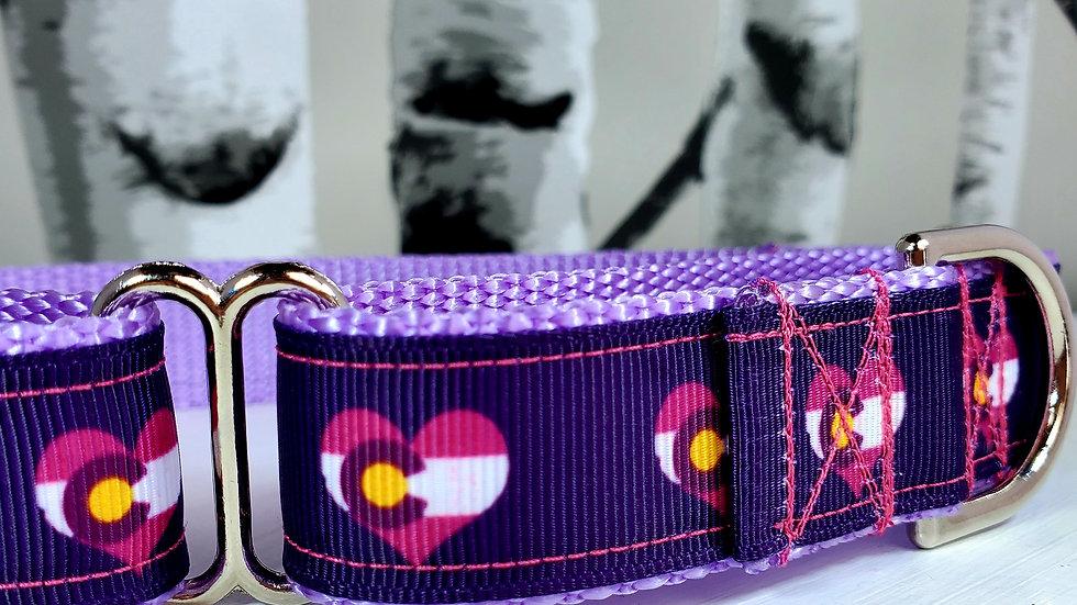 "1"" Pink or Purple Colorado Martingale Collar"