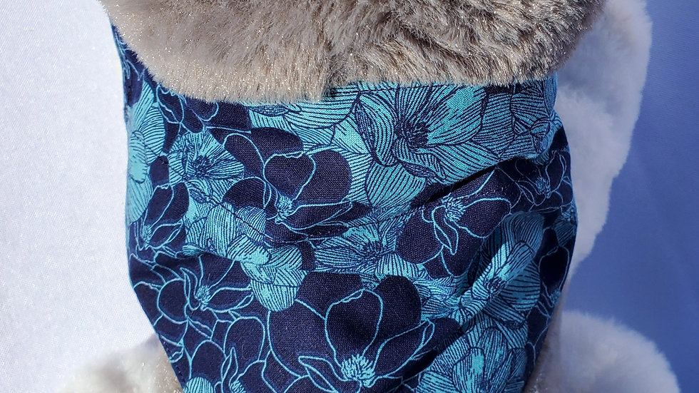 Blue Floral Dog Collar or Leash-Summer Dog Collar and Leash