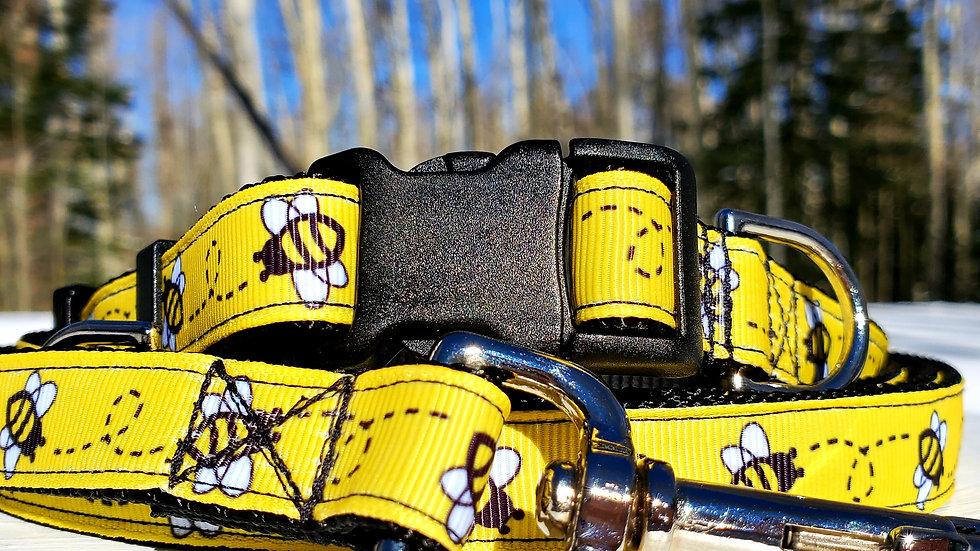 "3/4"" Bumblebee Dog Collar, Leash, Martingale, Harness"