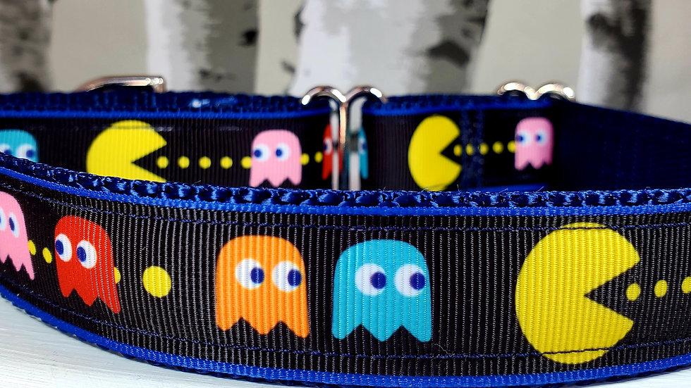 "1"" Pac-Man Martingale Dog Collar or Leash"