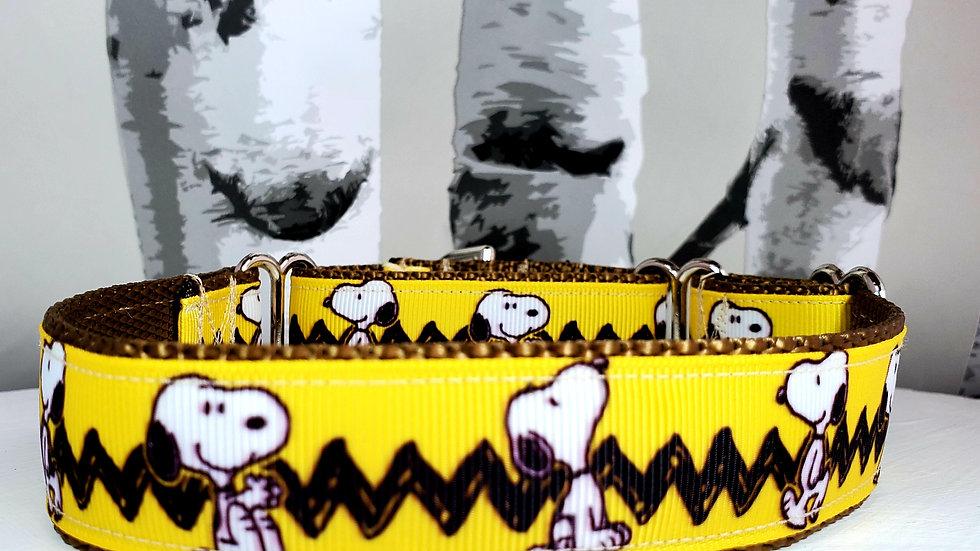 "1"" Snoopy Martingale Dog Collar"