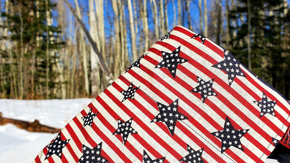 America Stars and Stripes Reversible Dog Bandana