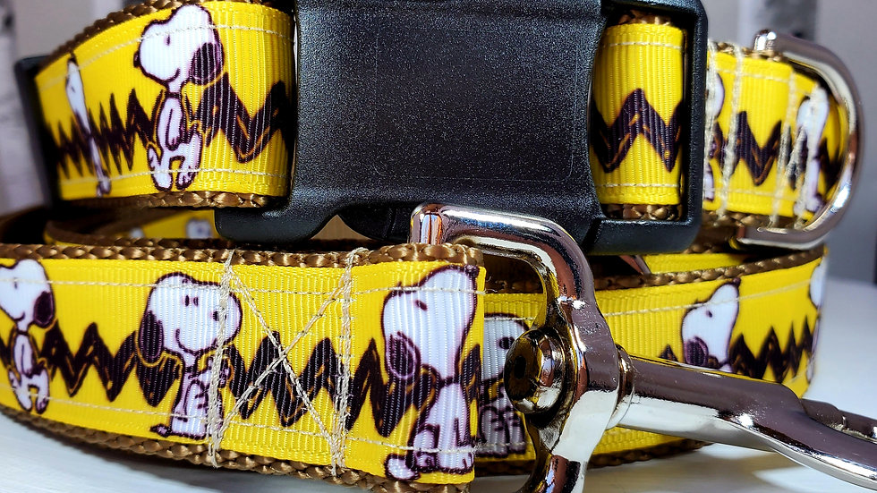 """1"""" Snoopy Dog Collar, Martingale, Harness,  or Leash"""