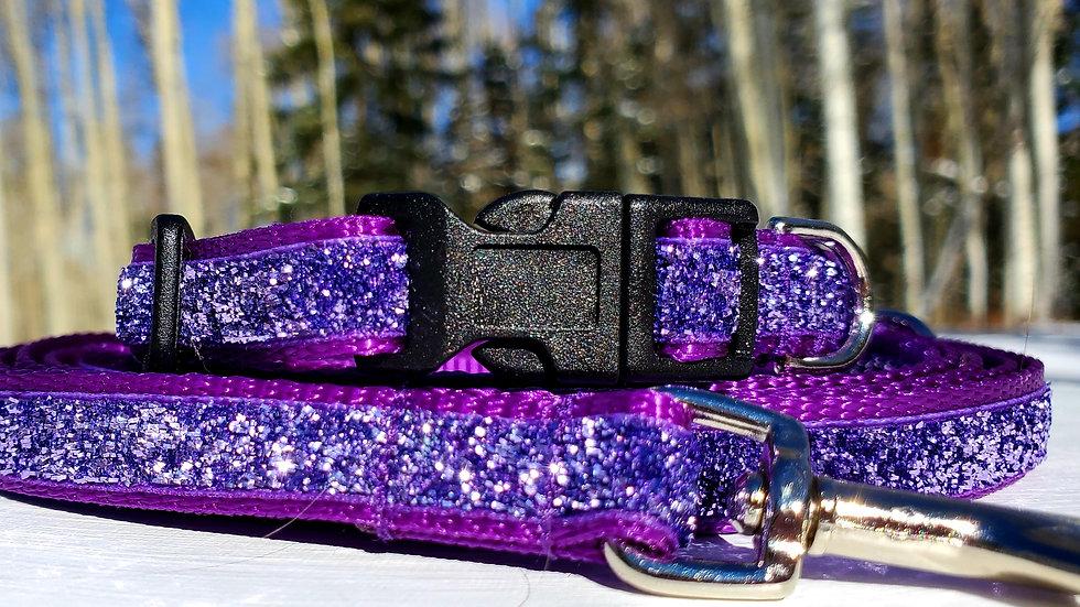 "1/2"" Purple Sparkle Dog Collar, Leash, or Harness"
