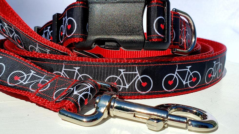 "3/4"" Bicycle Dog Collar and Leash"