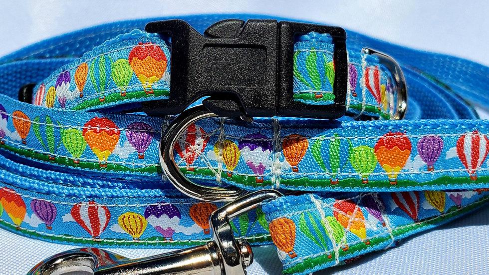 """1/2"""" Hot Air Balloon Dog Collar, Leash, or Harness"""