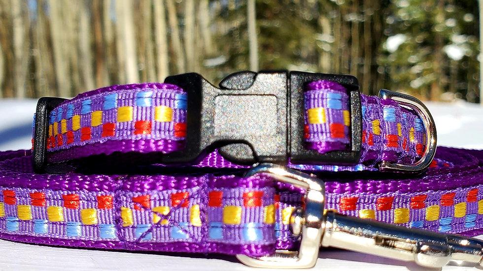"1/2"" Purple Dog Collar, Leash, or Harness"