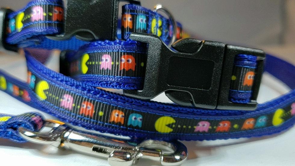 "1/2"" Pac-man Dog Collar or Leash"