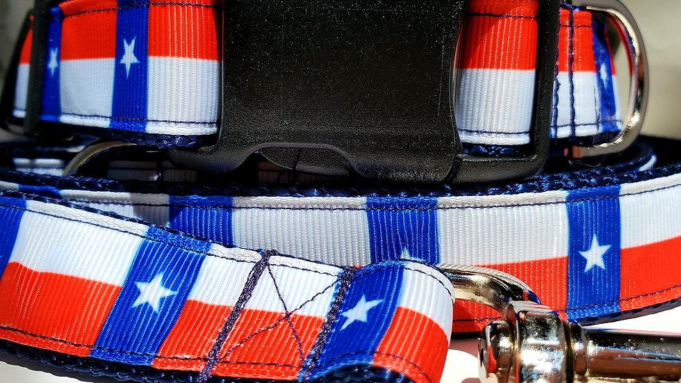 "1"" Texas America Dog Collar, Martingale, Harness,  or Leash"