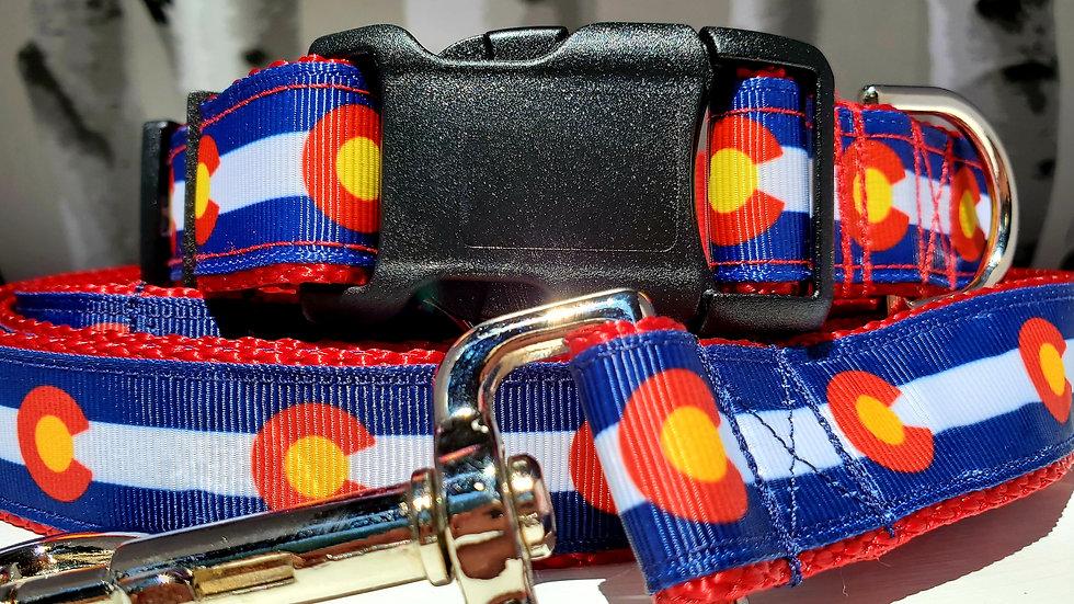 "1"" Colorado Dog Collar, Martingale, Harness,  or Leash"