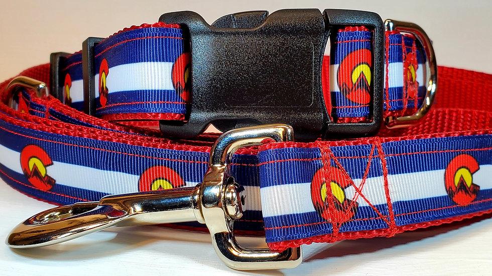 "1"" Colorado Mountain Dog Collar, Martingale, Harness, or Leash"