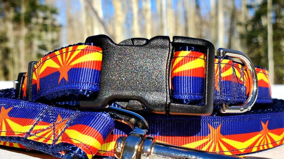 "3/4"" Arizona Flag Dog Collar, Leash, Martingale, Harness"