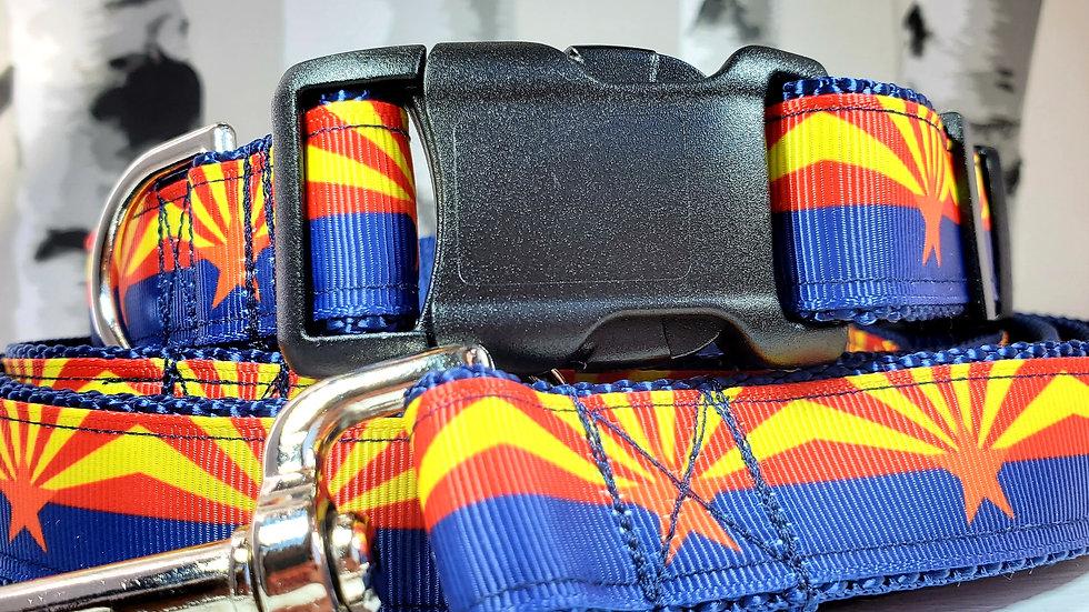 "1"" Arizona Dog Collar, Martingale, Harness, or Leash"