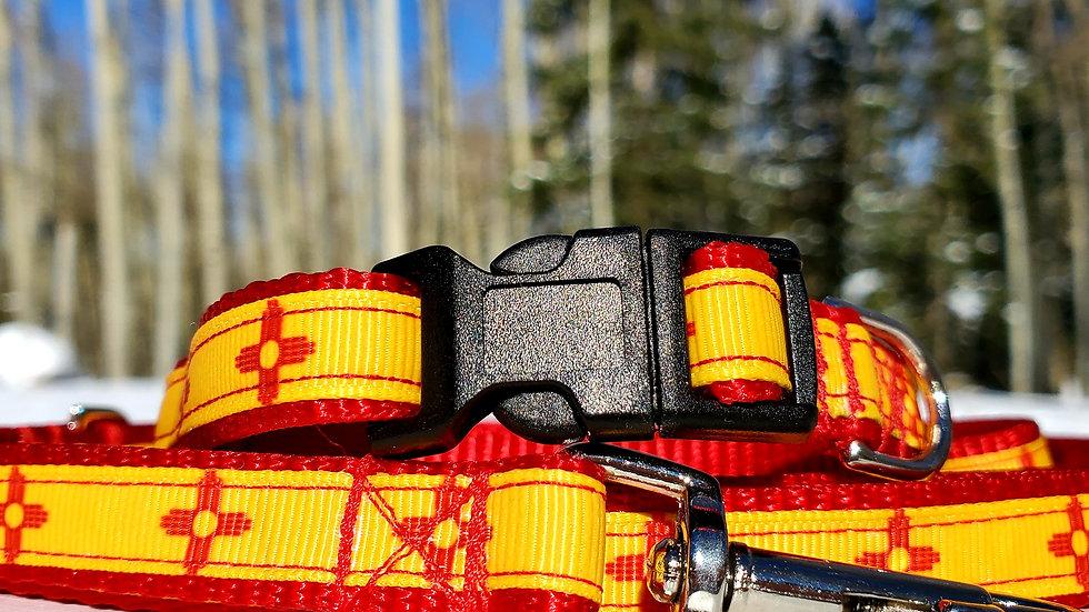 """1/2"""" New Mexico Zia Collar, Leash, or Harness"""