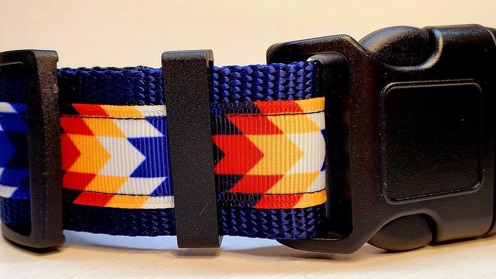 "1.5"" Blue Aztec Dog Collar"