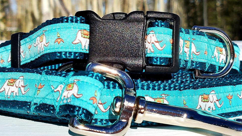 "3/4"" Elephant Dog Collar, Leash, Martingale, Harness"