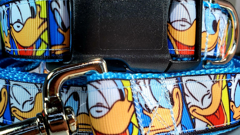 """1"""" Donald Duck Dog Collar, Martingale, Harness, or Leash"""