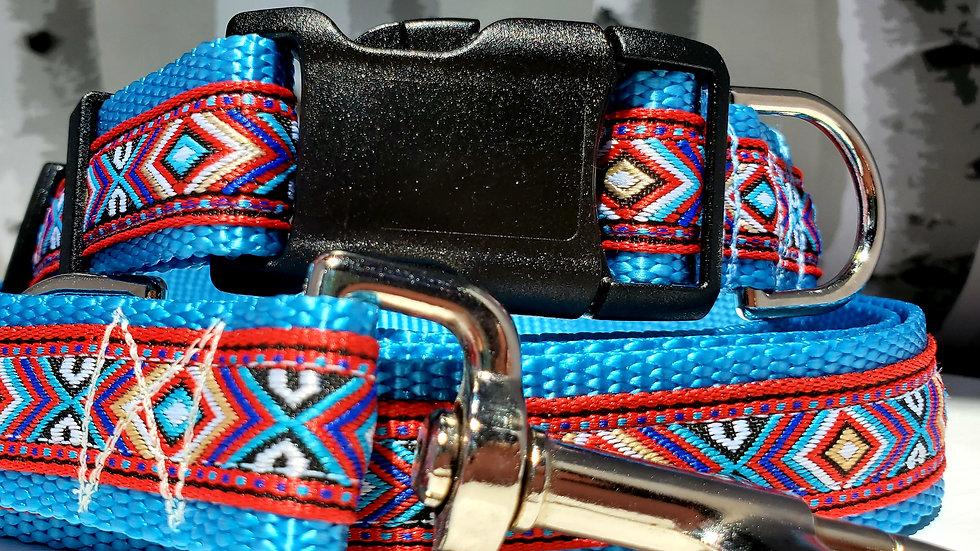 "1"" Southwest Dog Collar, Martingale, Harness,  or Leash"