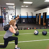 Sandbag Lunges.  What a great way to eas