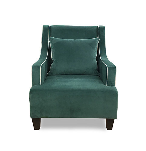 Francis Accent Chair Contrast Piping Face On