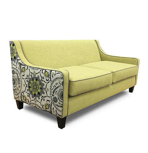 Chicago Sofa Contrast Material Side On