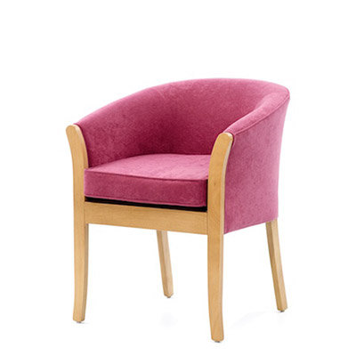Marlborough Tub Chair with Wooden Frame