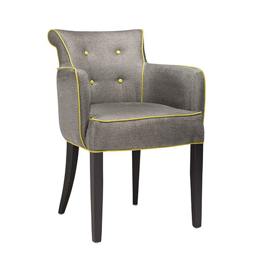 Piea Armchair with Contasting Piping