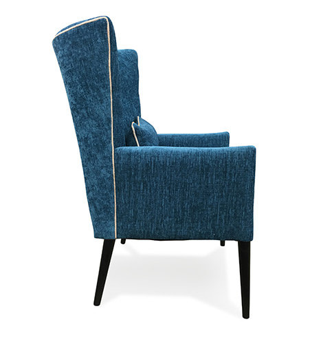 Veronica Accent Chair Contrast Piping
