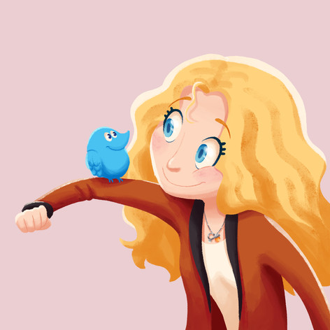 Self Portrait with Twitter Bird