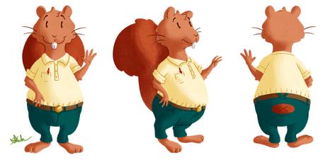 Scotty Squirrel Turnaround Sheet