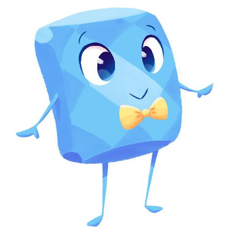 Blue Diamond Mascot