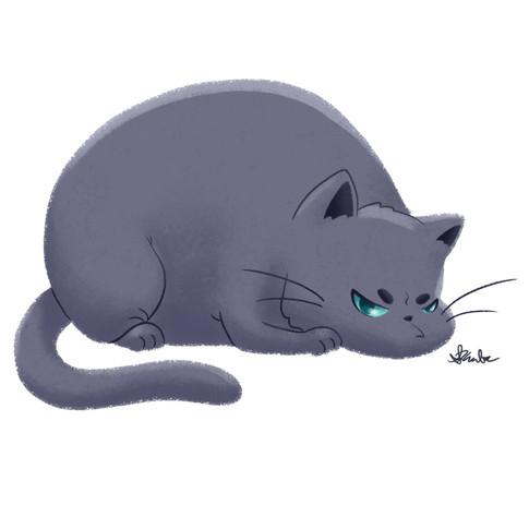 Chubby Grumpy Kitty (Gray)