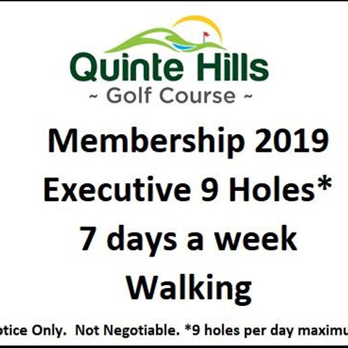 Executive 9 Holes Anyday: Walking